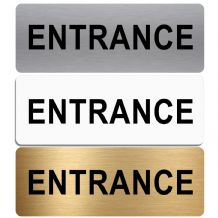 Entrance Sign-Aluminium Metal-Shop,Manager,Notice,Door,School,Business,Hospital,Office,Welcome